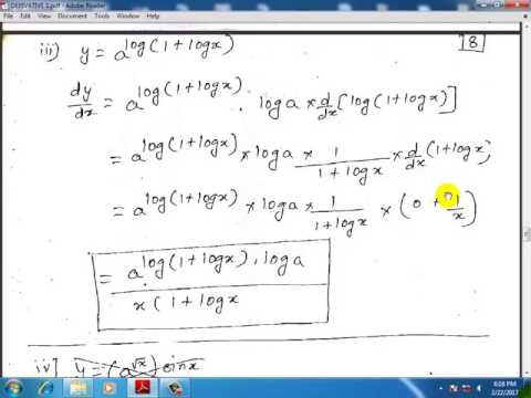 derivative in hindi lecture 2 (12th science maths in hindi) ( differentiation )