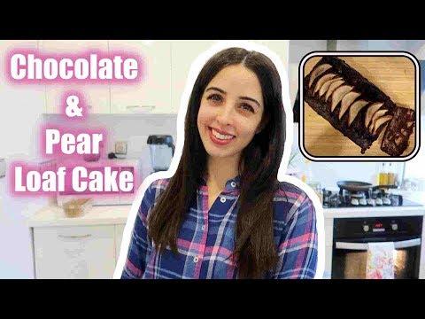 SUPER EASY Chocolate & Pear Loaf Cake