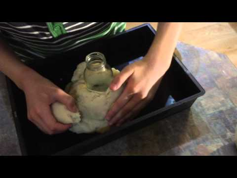 Making Playdough Volcano