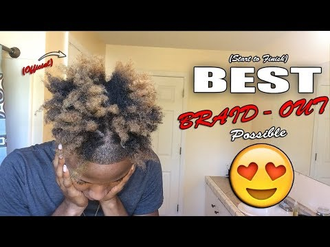 OFFICIAL Braid Out Tutorial! | Quick & Easy (BEST METHOD!)