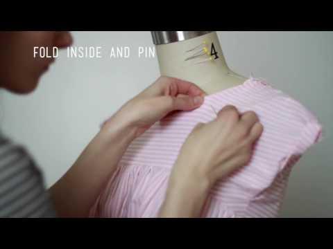 Very simple neckline facing tutorial
