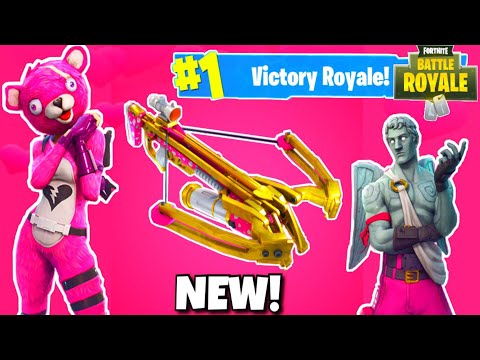 NEW CROSSBOW WEAPON UPDATE IN FORTNITE! - VALENTINE's DAY UPDATE FORTNITE BATTLE ROYALE!
