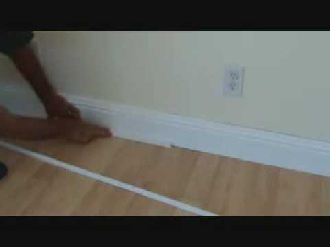 Installing baseboard to a prefinished hardwood floor