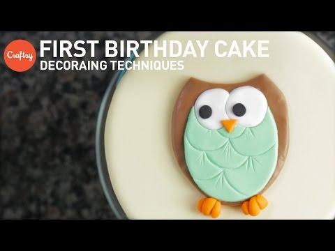 1st Birthday Cake Ideas | Fondant Cake Decorating Tutorial