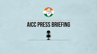 AICC Press Briefing By Manish Tewari at Congress HQ