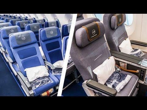 Economy Class VS. Premium Economy Class     WHAT'S THE DIFFERENCE?   Lufthansa Airbus A350-900XWB
