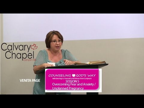 Session 5: Overcoming Fear and Anxiety / Unplanned Pregnancy, Teacher Venita Page