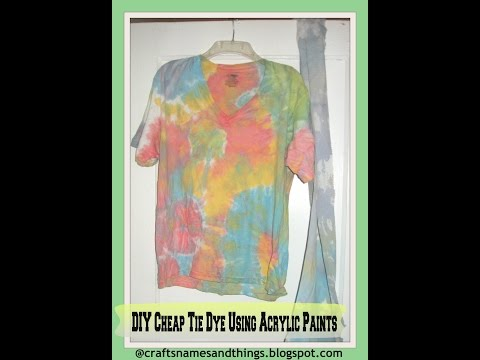 DIY Tie-Dye T-Shirts | How To | Tutorial /How to Tie Dye Using Acrylic Paints