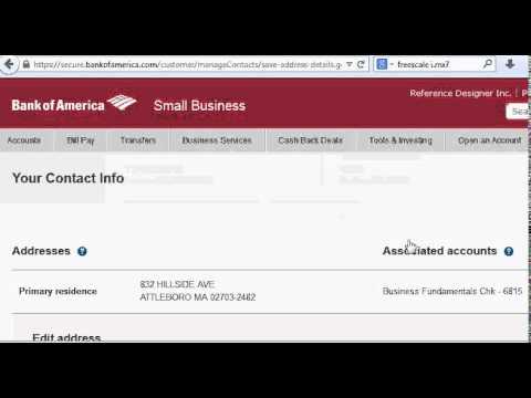 Bank of America trouble editing address.