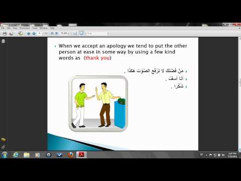 Learning Arabic Online How to Accept and Apology