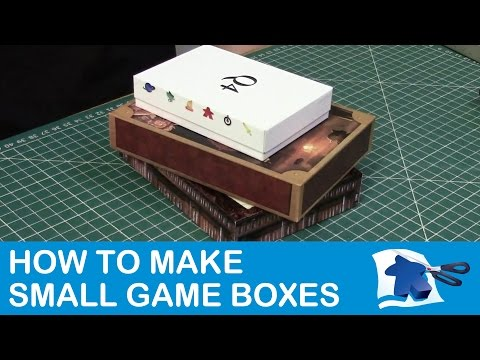 How to Make Small Game Boxes - Dining Table Print & Play