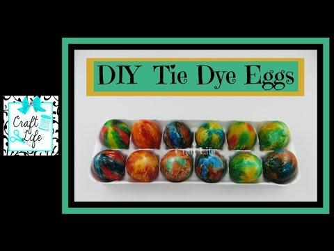 Craft Life ~ Jacy and Kacy DIY ~ Tie Dye Easter Egg Tutorial