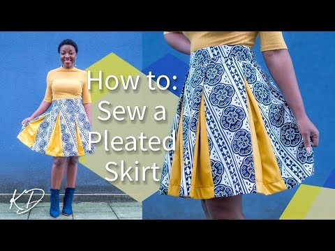 HOW TO: SEW A PLEATED SKIRT WITHOUT PATTERNS | KIM DAVE
