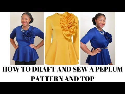 How to Draft and Sew a Peplum Top from a Tshirt