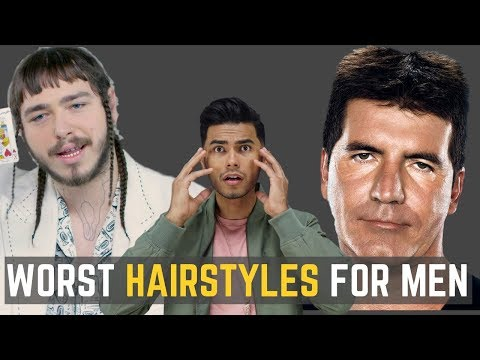 6 UGLIEST Hairstyles Men Should AVOID!   DO NOT WEAR THESE!
