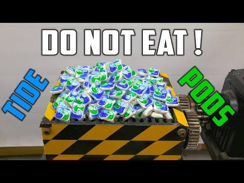 Shredding 500 Tide Pods ( Tide Pod Challenge the SAFE way ! )