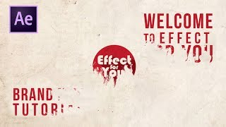 Ink Drop Text and Logo Reveal in After Effect | After Effects Tutorial | By Effect for You.