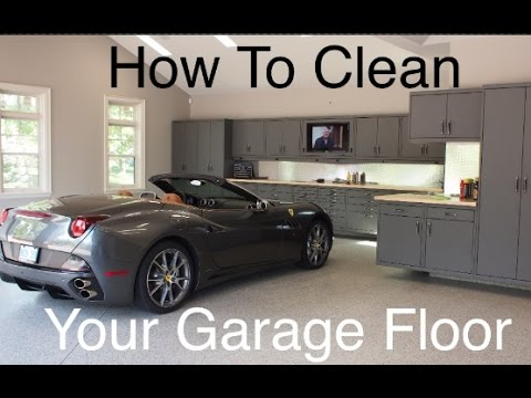 How to clean your garage floor.
