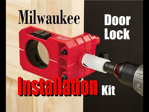 How to install a Bolt Lock with the Milwaukee Door Lock Installation Kit
