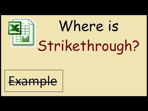 How to strikethrough text in Excel