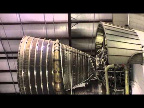 Saturn V  rocket engines - moon rocket - NASA Johnson Space Center Houston Texas