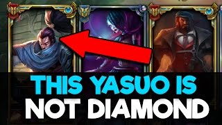 Placing a Bronze Yasuo Main in a DIAMOND Solo Q Game (FLAMES RANK 10 CHALLENGER)