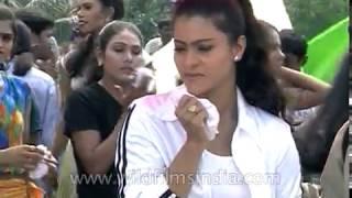 Actress Kajol, Ganesh shoot a Bollywood dance sequnce