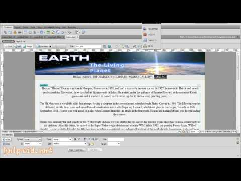 How to Create an Email Link for Contact ..:: Dreamweaver Tutorial ::..