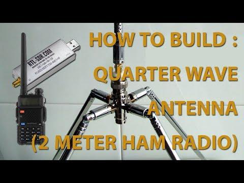 Rakit & tes antena dipole 1/4 lamda (Quarter wave antenna 2 meter HAM Radio)