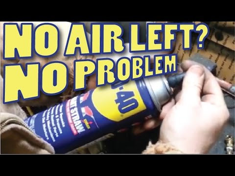 Refill flat AEROSOL Spray Cans like the WD-40 and others