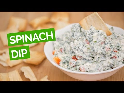 Spinach Dip Recipe with Greek Yogurt, Ranch Dressing