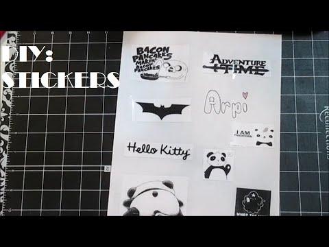 DIY:Stickers(No Sticker Paper)