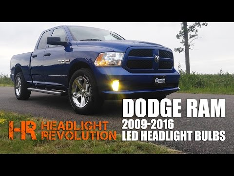 LED Headlight Bulb Upgrade Kit for 2009-2016 Dodge Ram with Reflector Headlights