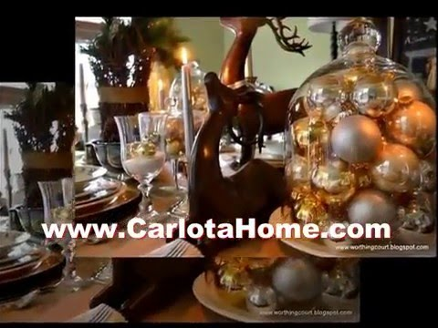 Modern Interior of Red And Gold Christmas Decor Home Space