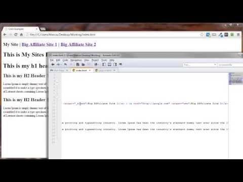 HTML Link Targets
