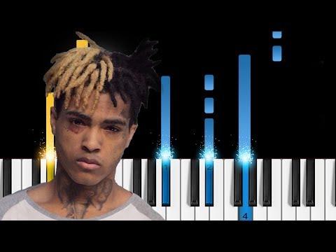 XXXTentacion - Staring at the Sky - EASY Piano Tutorial