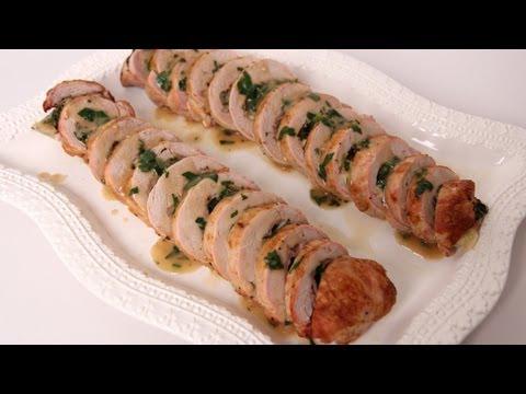 Prosciutto & Spinach Stuffed Pork Tenderloin - Laura Vitale - Laura in the Kitchen Episode 486