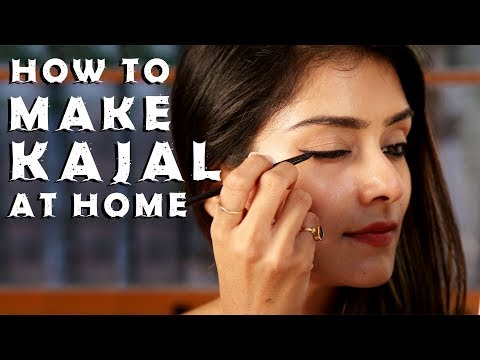 How to make Kajal At Home | Smudge Proof Kajal | Easy Home Remedy | Foxy Makeup Tutorials