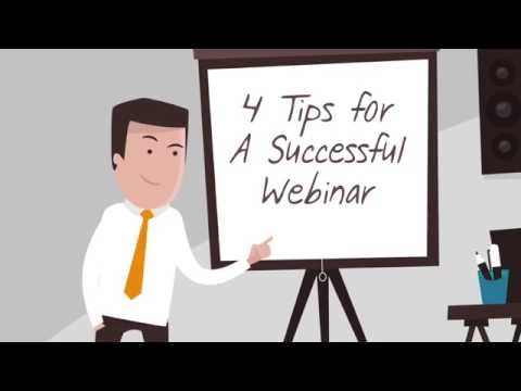 4 Top Tips for A Successful Webinar