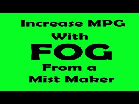 Improve your Gas Mileage with water and a mist maker.