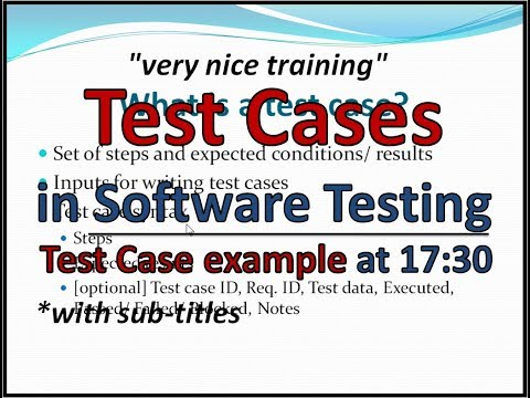 What is Test Case - Examples