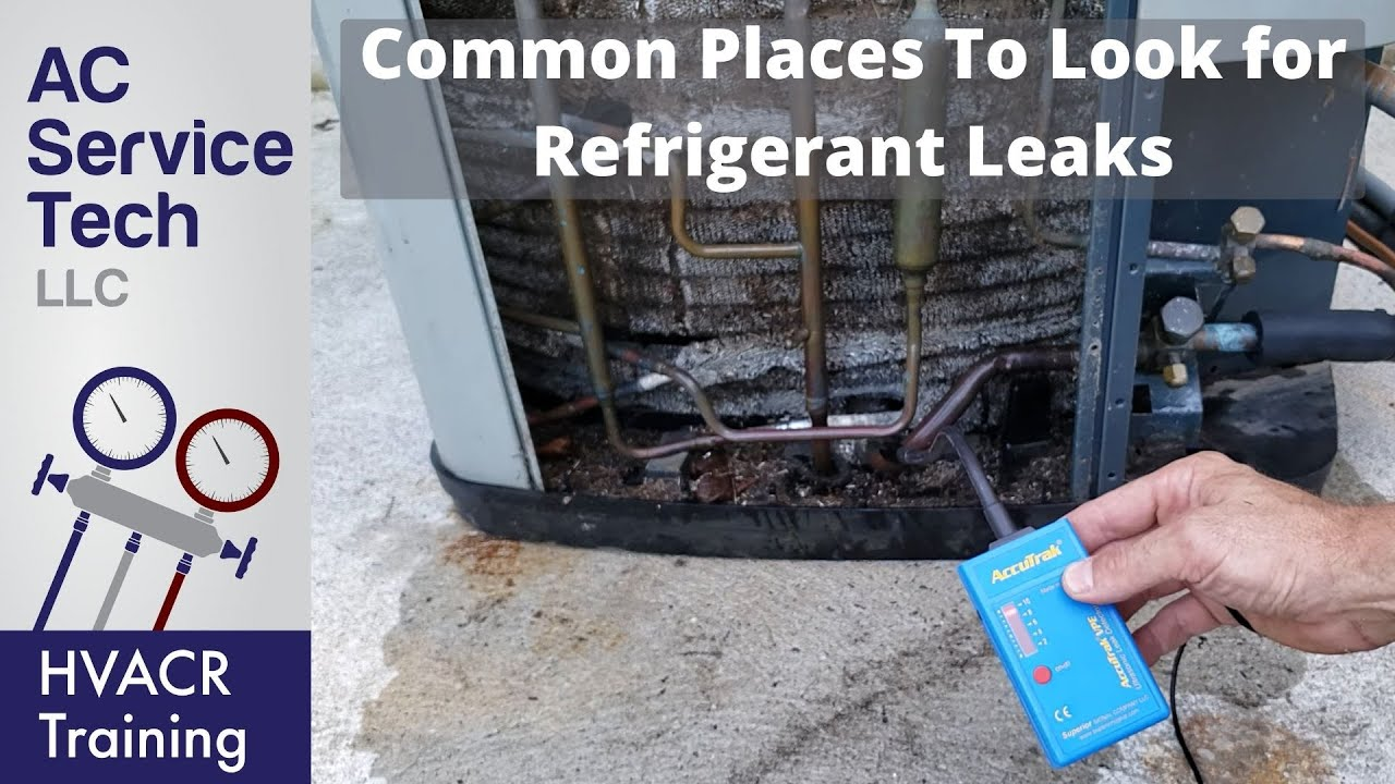 Where to Find R-22 & R-410A LEAKS on AC Units! Top 10 Spots!