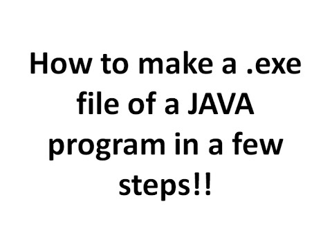 How to make a .exe file (executable file) of a JAVA program in Eclips in a few steps