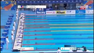 Katie Ledecky New World Record 1500m Freestyle World Championships Ch