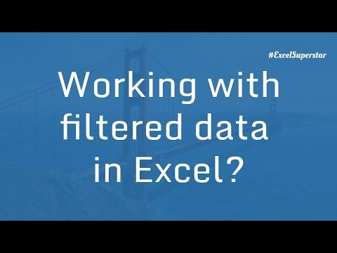 Working with Filtered Data in Excel | Excel in Hindi