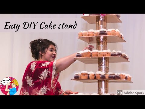 DIY Cake stand,  Tiered cupcake stand for weddings and occasions