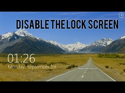 How To Disable The Windows 8 Lock Screen