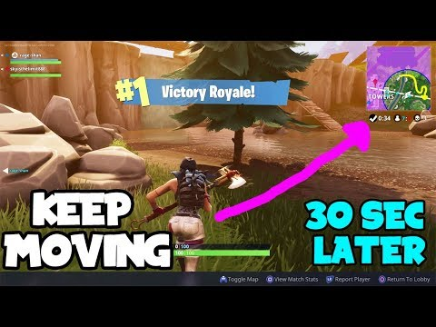 *COOL NEW TRICK* To Keep Moving FOREVER! After Fornite Battle Royale Game Is Finished!!