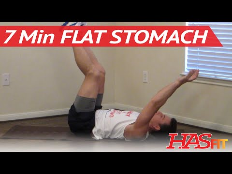 7 Minute Flat Stomach Workout - HASfit Get A Flat Stomach Exercises - Flatter Stomach Work Out