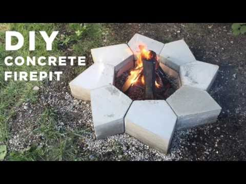 DIY Concrete Firepit | Made with a CNC machine